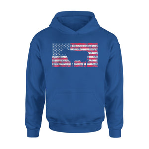 American Flag Cow Shirt 4th Of July USA Gift Premium Hoodie