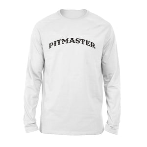 Mens Cotton Long Sleeve T-Shirt - Bbq Pitmaster Chef Dad Fathers Day
