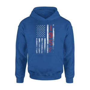 60th Birthday - 1958 Vintage American Flag Gift Premium Hoodie