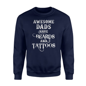 Awesome Dads Have Breads And Tattoos Father's Day Sweatshirt