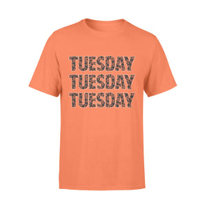 Tuesday Black Flower Seven-Day Of The Week - Premium T-shirt