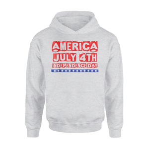 America Independence Day Holiday 4th July Patriotic Premium Hoodie
