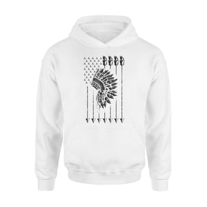 Cool Native American Arrow And Teepee Flag Premium Hoodie