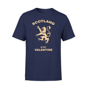 Mens Cotton Crew Neck T-Shirt - Scotland Is My Valentine 01