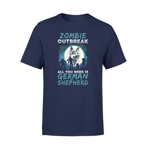 Mens Cotton Crew Neck T-Shirt - Zombie Outbreak 01