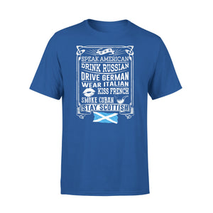 Mens Cotton Crew Neck T-Shirt - Stay Scottish 01