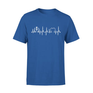 Mens Cotton Crew Neck T-Shirt - Scotland Heartbeat 03