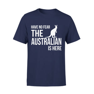 Mens Cotton Crew Neck T-Shirt - The Australian Is Here 01
