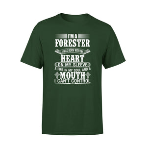 Mens Cotton Crew Neck T-Shirt - Im A Forester