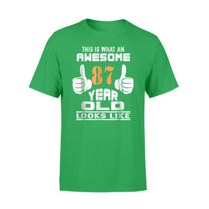 Cotton Crew Neck T-Shirt - 87th Birthday Gift For Awesome 1931 87 Year Old Gift