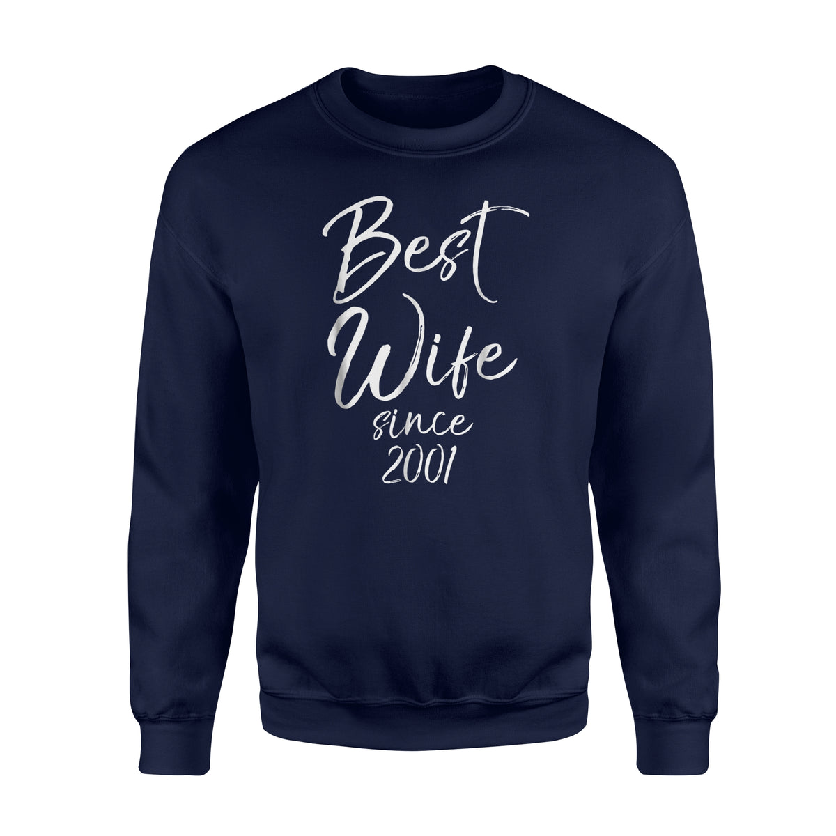 17th Anniversary Gift For Wife: Best Wife Since 2001 Cute 17th Anniversary Gift Sweatshirt