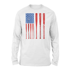 Balls and Bats American Baseball Premium Long Sleeve T-Shirt