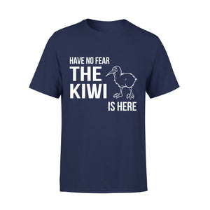 Mens Cotton Crew Neck T-Shirt - Have No Fear The Kiwi Is Here 01
