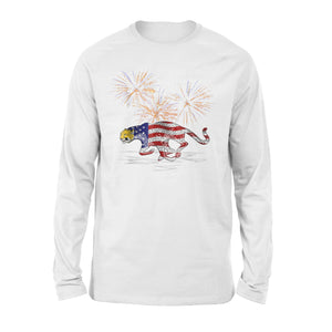 Cheetah Firework 4th July Of Premium Long Sleeve T-Shirt