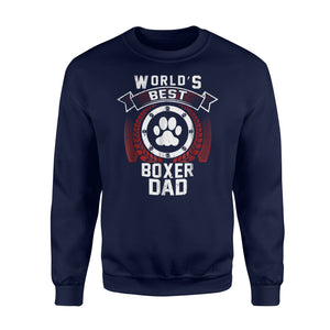 Boxer Dad Funny Dog Father For Men Puppy Daddy  Sweatshirt