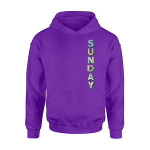 Sunday 3d Vintage Shadow Seven-Day Of The Week Hoodie
