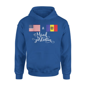 American + Moldova Mixed To Perfection Flag Premium Hoodie