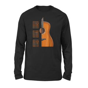 Beautiful Dad Chords Acoustic Guitar Long Sleeve T-Shirt