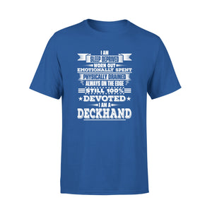 Mens Cotton Crew Neck T-Shirt - I Am A Deckhand