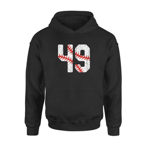 Baseball Player Jersey Number #49 Hoodie
