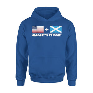 American + Scottish = Awesome USA And Scotland Flags Premium Hoodie