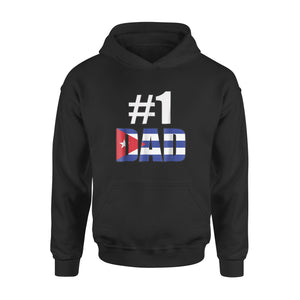 #1 Dad Cuba Fathers Day Holiday Hoodie