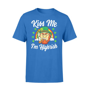Kiss Me I'm Highrish St Patricks Day Weed Stoner Irish Standard T-Shirt