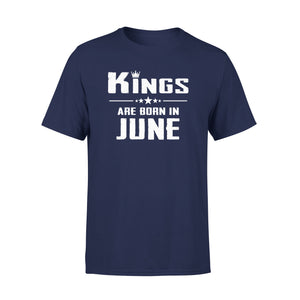 Mens Cotton Crew Neck T-Shirt - Kings Are Born In June 01