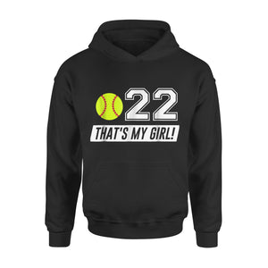 #22 Softball Mom, Softball Dad Hoodie