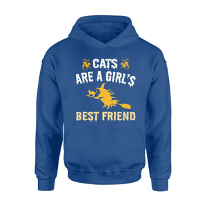 Cute Halloween For Girls Cats Are A Girl's Best Friend Hoodie