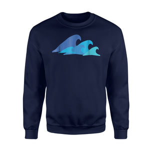 Blue Ocean Waves Tropical Ocean Summer Beach Sweatshirt