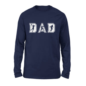 Basketball Dad Shirt Funny Flag Hoops Bball Fathers Day Long Sleeve T-Shirt