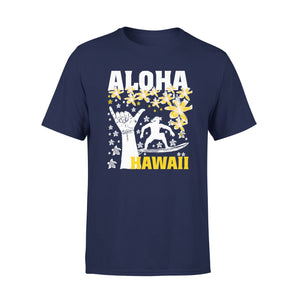 Mens Cotton Crew Neck T-Shirt - Aloha Hawaii 01