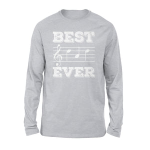 Best Dad Ever Music 04 Long Sleeve T-Shirt