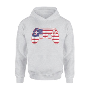 4th Of July Gamer Gaming American Flag USA Merica Gift Premium Hoodie