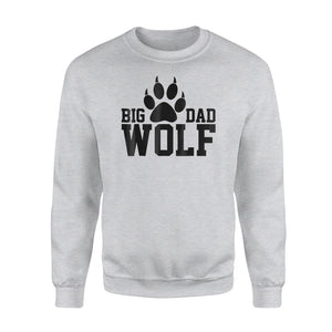 Big Dad Wolf Paw Distressed White Sweatshirt