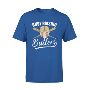 Busy Raising Ballers Baseball T-Shirt