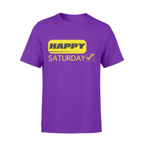 Happy Saturday Modern Style Seven-Day Of The Week - Premium T-shirt
