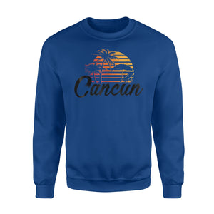 Cancun Mexico Beach Palm Tree Party Destination Gift Sweatshirt
