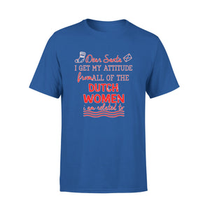 Mens Cotton Crew Neck T-Shirt - Christmas Attitude From Dutch Womens 01