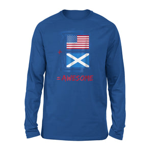 American + Scottish = Pride Scotland Premium Long Sleeve T-Shirt
