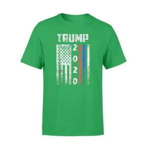 American Flag Vintage Trump 2020 Police  Firefighter Suppon T-Shirt