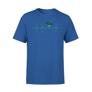 Mens Cotton Crew Neck T-Shirt - Hawaii Heartbeat 02