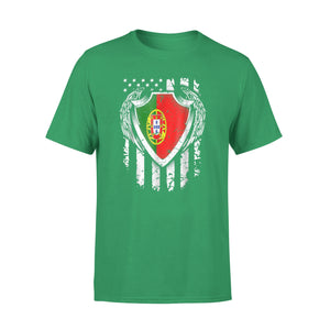 Angel Portuguese American Flag Patriotic Portugal Usa Premium T-Shirt