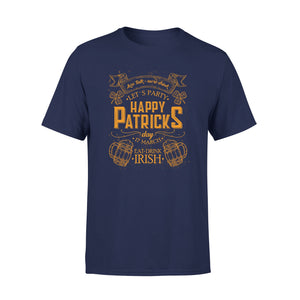 Mens Cotton Crew Neck T-Shirt - Happy Patricks  01