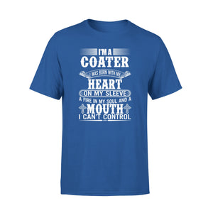 Mens Cotton Crew Neck T-Shirt - Im A Coater