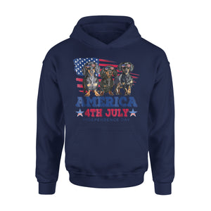 America 4Th July Independence Day Premium Hoodie