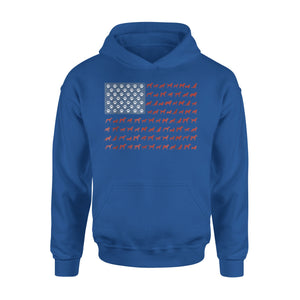 American Flag Dogs And Paws 4th Of July Premium Hoodie