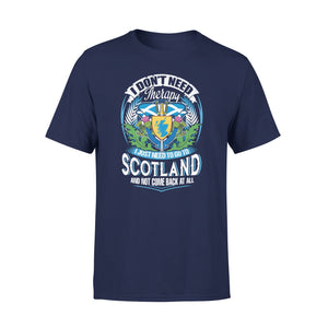 Mens Cotton Crew Neck T-Shirt - I Just Need To Go Scotland 01