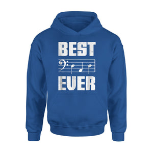 Best Dad Ever Bass Clef Musician 01 Hoodie